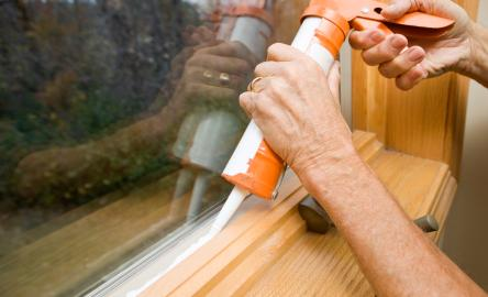 Caulking Window to Seal Air
