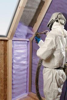 Spray foam insulation for home