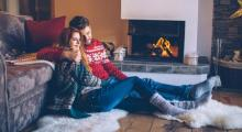 Happy couple in high performing home